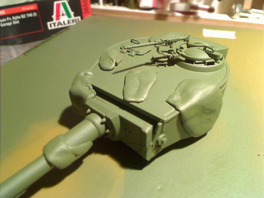 Tack paste masking on the turret